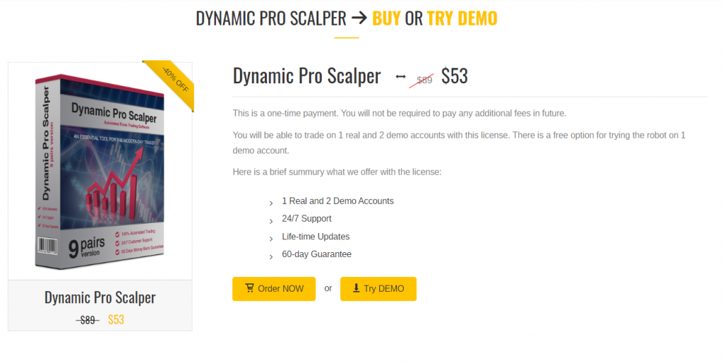 Dynamic Pro Scalper Robot offer