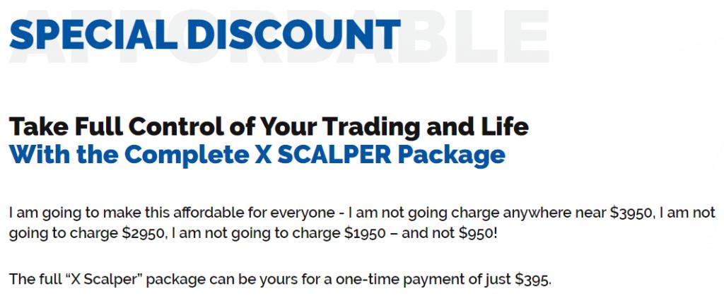 XScalper Robot Pricing