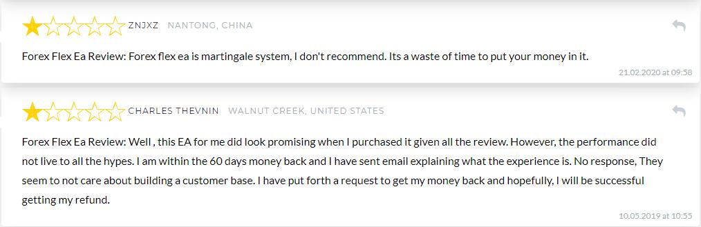 Forex Flex EA People Feedback