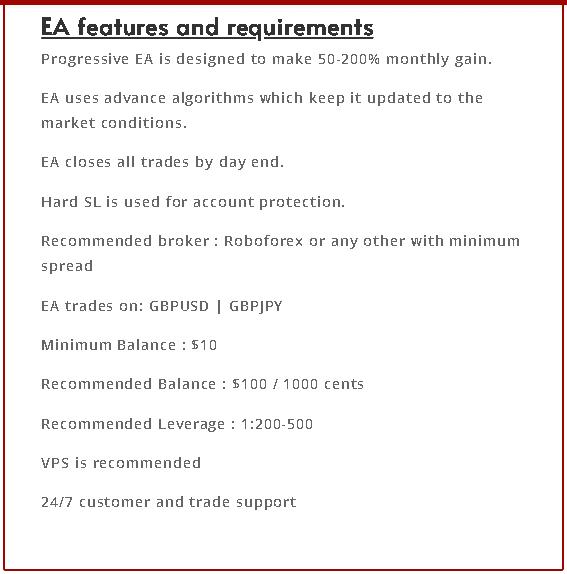 Progressive EA features
