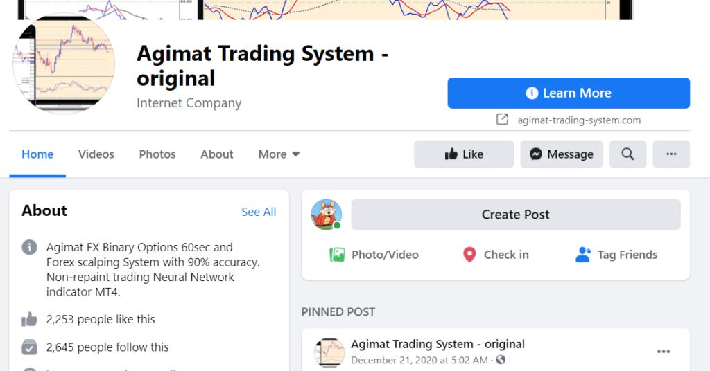 Agimat Trading System FB profile