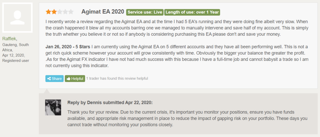 Agimat Trading System People feedback