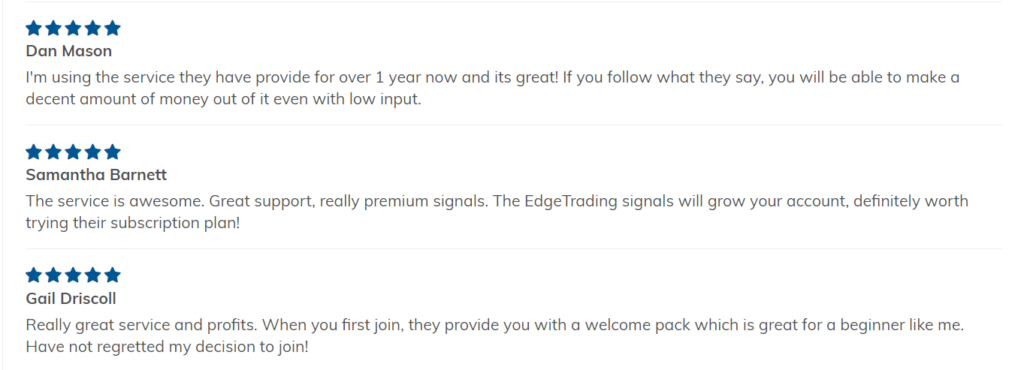Edge Trading People feedback