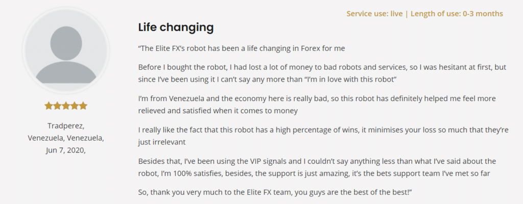 Elite FX Signals People feedback