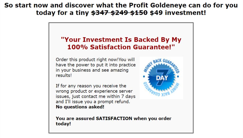 GoldenEye Indicator price
