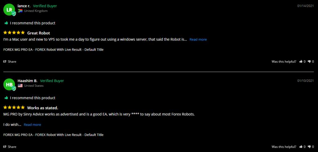 MG Pro EA customer reviews