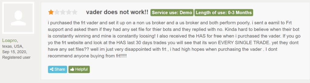 Odin Forex Robot customer reviews