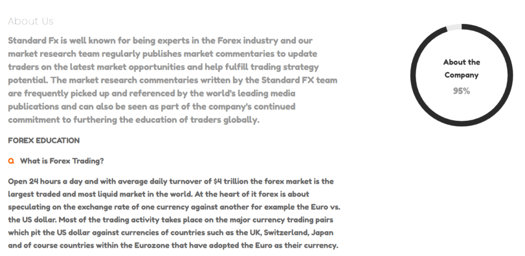 About Standard FX