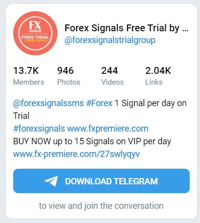 FX Premiere Telegram account