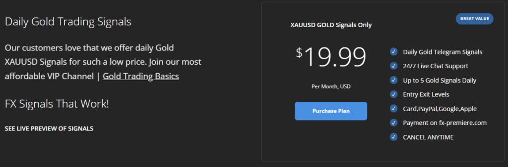 FX Premiere price
