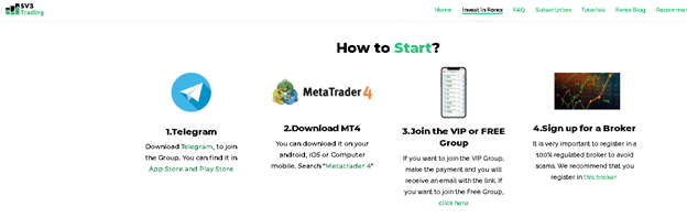 start trading with the SV3 Trading