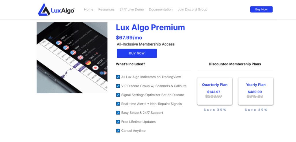Lux Algo price