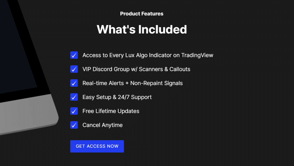 Lux Algo features