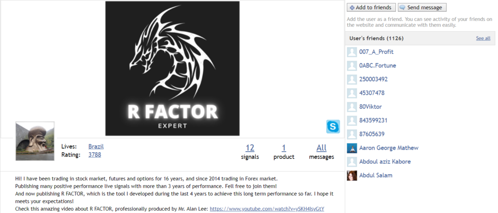 R Factor EA. The developer has only this product in the portfolio.