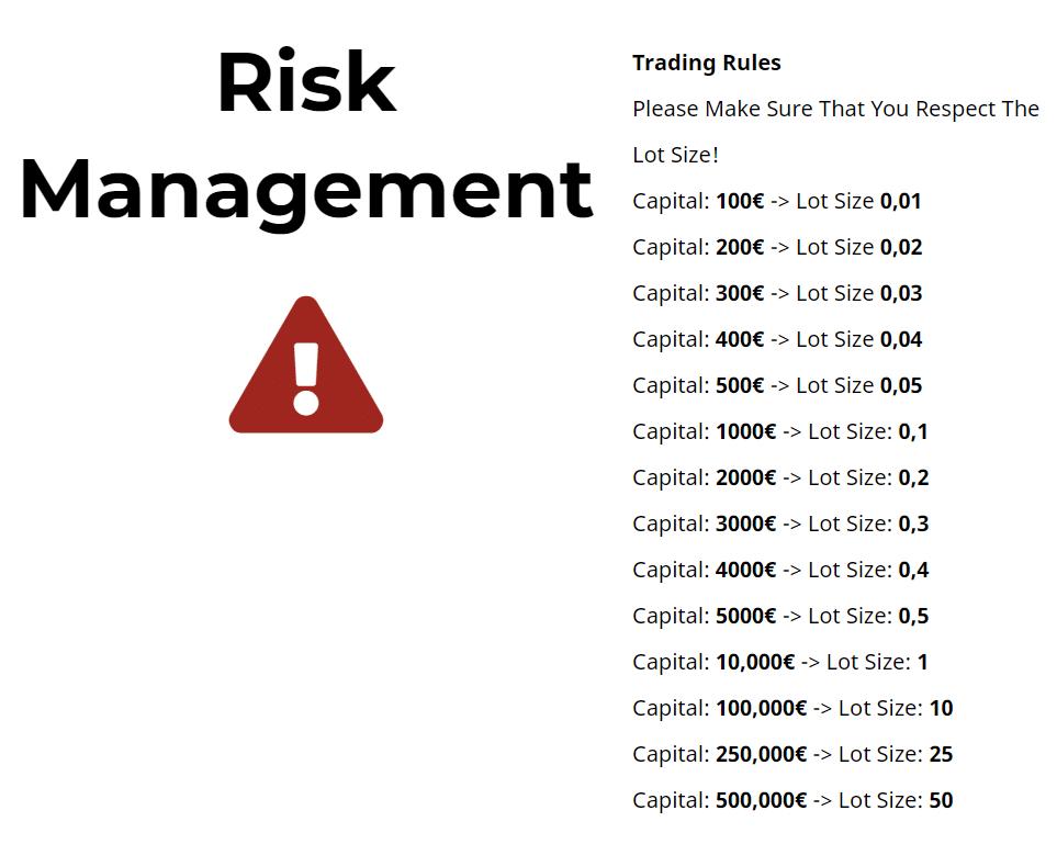 V12 Trading. Risk Management