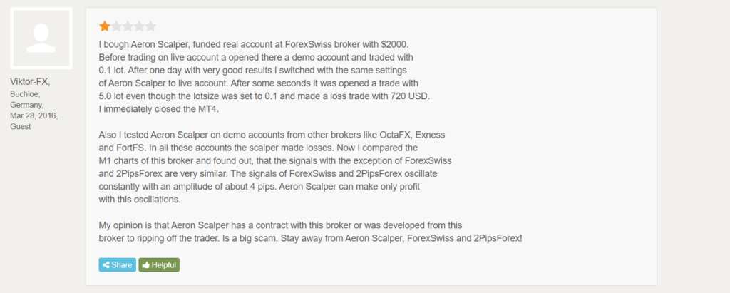 Aeron (Scalper+Grid) People Feedback