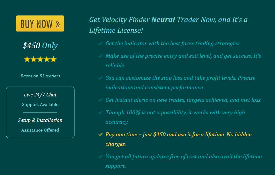 Velocity Finder Neural Trader price