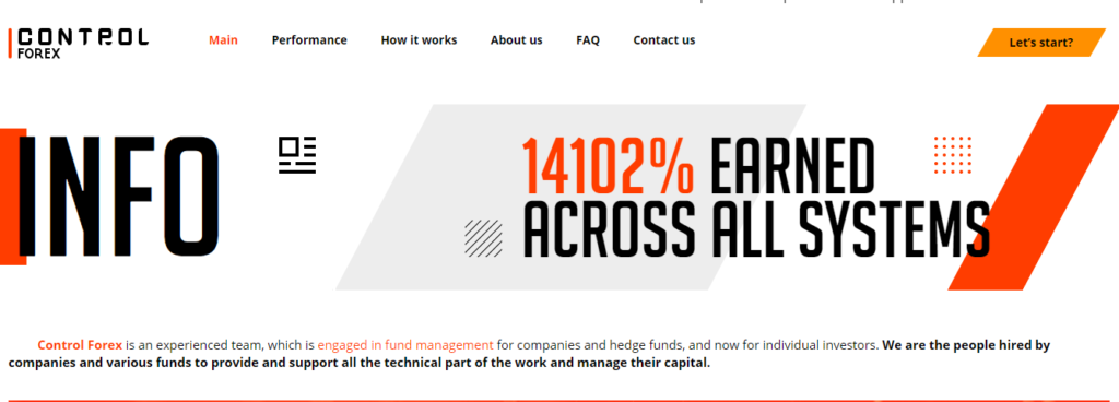 Official website of Control Forex