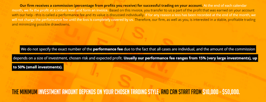 Pricing plan for Control Forex