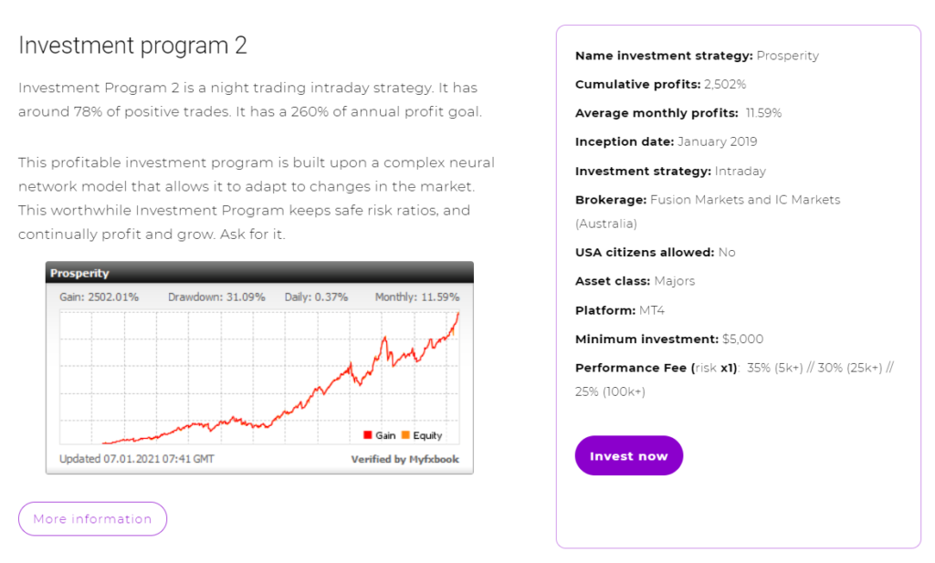 FXMAC - investment program 2