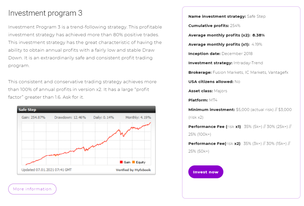FXMAC - investment program 3