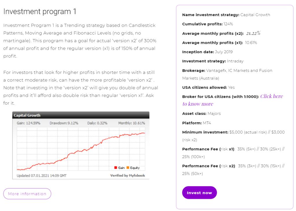 FXMAC - investment program 1