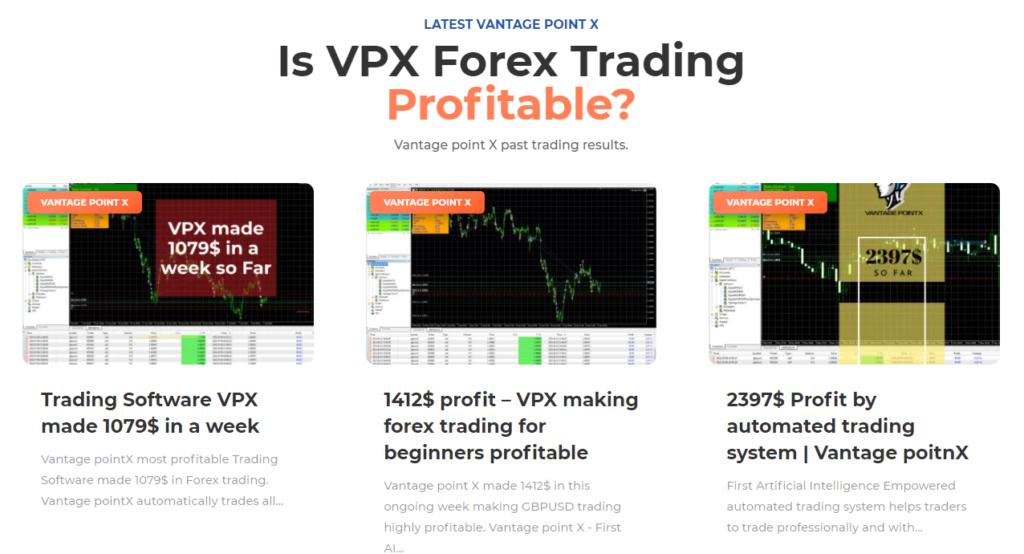 Vantage Point X - trading profitable