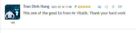 One positive review on MQL5.