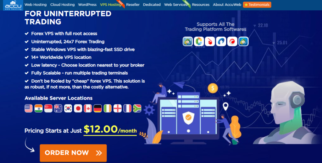 Home page of AccuWeb Hosting